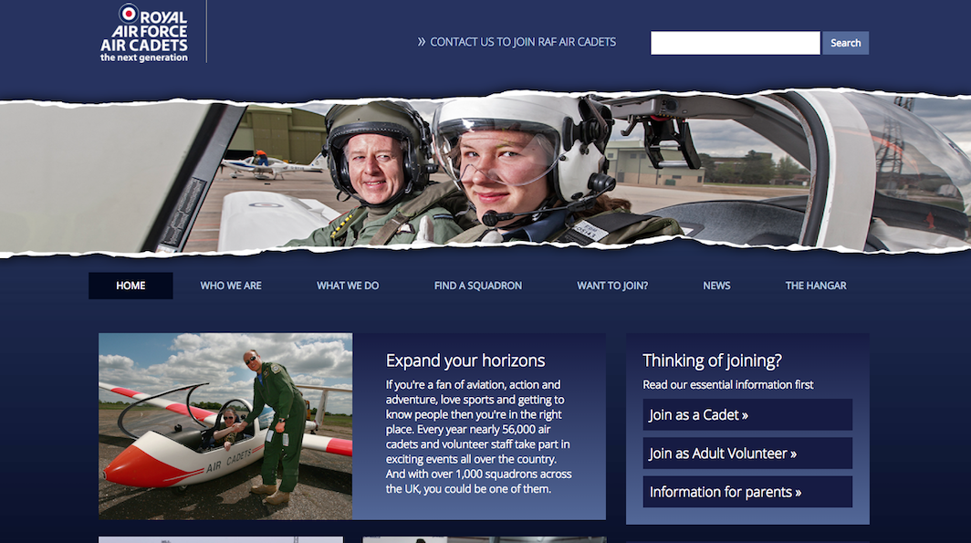 raf cadets home thumb